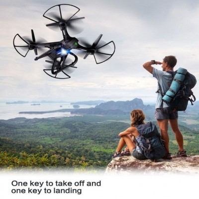 RC Quadcopter With Camera, Wifi Drone With 2MP HD Camera GPS Brushless Quadcopter 6-Axles RC Quadcopter