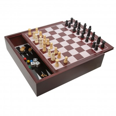 Ideal Premium Wood Cabinet 10 Game Set   563189400