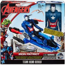 Marvel Avengers Titan Hero Series Iron Patriot Figure with Arc Thruster Jet Vehicle   553312479