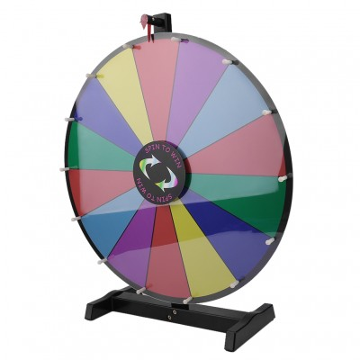24inch 14 Grids Color Prize Wheel Tabletop Spin Game Lucky Rotary Module Wheel For Fortune Trade Show Fun Game