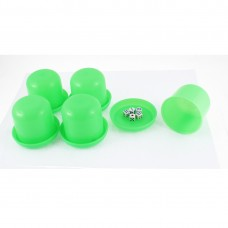 Game Dice Roller Cup Green 5 Pcs each w 5 Dices