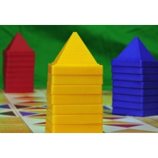 LAMINATED POSTER Board Game Pyramids Pastime Buildings Play Game Poster Print 24 x 36