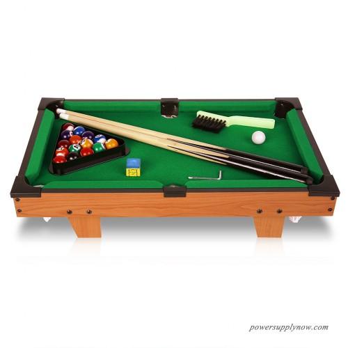 virhuck mini tabletop pool set billiards game includes game balls sticks chalk brush and. Black Bedroom Furniture Sets. Home Design Ideas