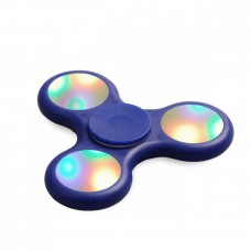 KIKO Ceramic Steel Bearing Aluminum Metal Matte LED Light Novelty Spinning Tops Triple Fidget Spinner Toys for ADD ADHD Focus Anxiety Autism Adult Children Kids, Orange   565334946