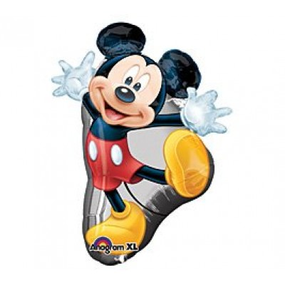 "31"" Red Mickey Mouse Full Body Mylar Balloon Birthday Decorations Supplies"