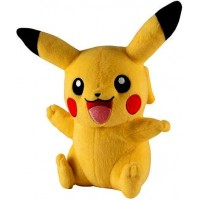 Pokemon Pikachu Plush [Sitting Open Mouth, Waving, Other Arm Up]