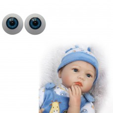 DZT1968 22mm-Reborn-Baby-Dolls-Eyes-Half-Round-Acrylic-Eyes-Brown-for-BJD-OOAK-Doll DB