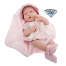 "JC Toys La Newborn 15"" All-Vinyl La Newborn Doll in pink multi-piece outfit with blanket. REAL GIRL!   568348008"