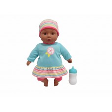 My Sweet Love 12.5in Cuddly Baby with Sound (African American) - Teal / Multi   562949291