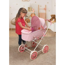 "Badger Basket Just Like Mommy 3-in-1 Doll Pram/Carrier/Stroller - Gray/Polka Dots - Fits American Girl, My Life As & Most 18"" Dolls   564139851"