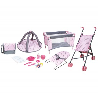 Lissi 5 Piece Baby Doll Deluxe Nursery Play Set w/ 8 Accessories   567836897