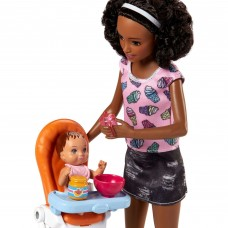 Barbie Babysitters Inc. Nikki Doll and Feeding Playset   565906323