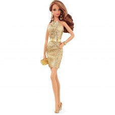 Barbie Look Doll Gold Dress   553622944