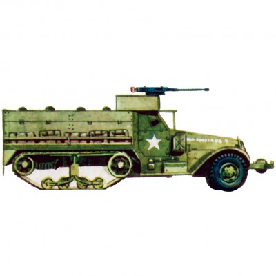 Plastic Model Kit-Personal Carrier Half Track   567947038