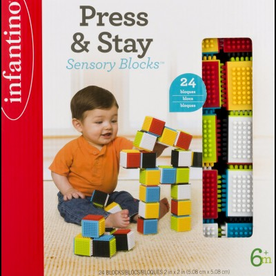 Infantino Press & Stay Sensory Blocks 6+m - 24 CT24.0 CT   554725016