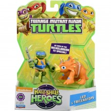 TMNT Half Shell Heroes Dino Leo and Triceratops