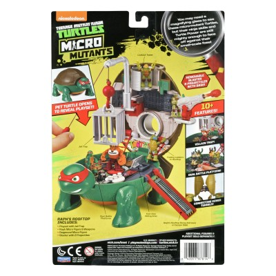 Teenage Mutant Ninja Turtles Micro Mutant Raphael's Roof Top Pet Turtle to Playset