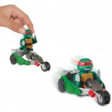 Teenage Mutant Ninja Turtles T-Sprints Rapid Assault Raph with Stealth Bike Basic Figure   555119779