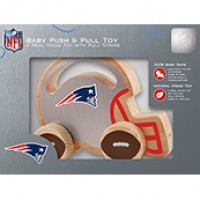 New England Patriots Push & Pull Wood Toy