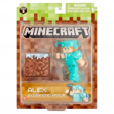Jazwares Minecraft Series 3 Alex in Diamond Armor Figure 6+   556209898