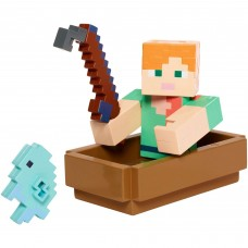 Minecraft Fishing Alex with Boat