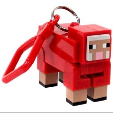 Minecraft Hangers Series 1 Red Sheep 3 Keychain [Chase Variant]
