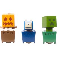 Minecraft Minecart Mini-Figure Pumpkin, Wolf, And Creeper 3-Pack   564910350