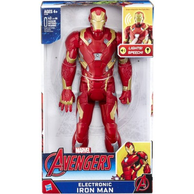 "Marvel Avengers 12"" Electronic Iron Man   557811907"