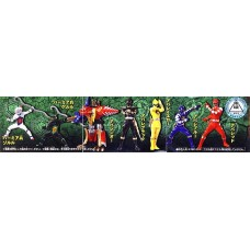 Power Rangers Mystic Force Set of 7 Capsule PVC Figures [Japanese]