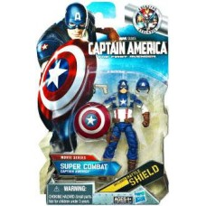 Comic Series Super Combat Captain America Action Figure