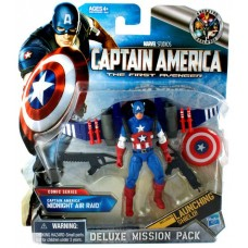 Deluxe Mission Pack Comic Series Captain America Midnight Air Raid Action Figure   070049996