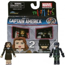 Minimates Marvel Comics Series 40 Captain America - Peggy Carter and Hydra Soldier 2 pack Mini Figure by Diamond Select